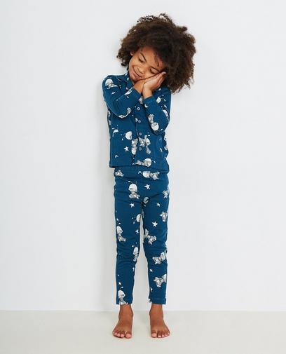 Petrolblauwe pyjama